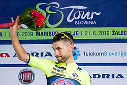 Giovanni Visconti (ITA) of Neri Sottoli Selle Italia KTM celebrates at trophy ceremony after 4th Stage of 26th Tour of Slovenia 2019 cycling race between Nova Gorica and Ajdovscina (153,9 km), on June 22, 2019 in Slovenia. Photo by Matic Klansek Velej / Sportida