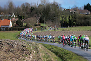 BELGIUM  / BELGIE / BELGIQUE / HARELBEKE / CYCLING / WIELRENNEN / CYCLISME / KLASSIEKER / 59TH RECORD BANK E3 HARELBEKE / UCI WORLD TOUR / UCI WORLDTOUR /  HARELBEKE TO HARELBEKE 206 KM / KORTEKEER / PELETON / LANDSCAPE / LANDSCHAP /