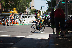 Shannon Malseed (AUS) of Tibco-Silicon Valley Bank Cycling Team tries to break away on Stage 3 of the Amgen Tour of California - a 70 km road race, starting and finishing in Sacramento on May 19, 2018, in California, United States. (Photo by Balint Hamvas/Velofocus.com)
