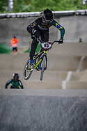 #93 (STEVAUX CARNAVAL Priscilla Andreia) BRA at Round 5 of the 2019 UCI BMX Supercross World Cup in Saint-Quentin-En-Yvelines, France