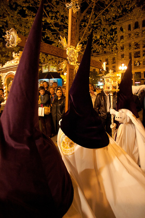 Guiding Cross at head of procession, Madrid, Spain