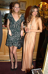 Left to right, the HON.SOPHIA HESKETH and AMANDA SHEPARD at a private dinner and presentation of Issa's Autumn-Winter 2005-2006 collection held at Annabel's, 44 Berkeley Square, London on 15th March 2005.<br />