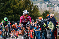RIVERA Coryn of Team Sunweb during 1st lap on local circuit, UCI Women WorldTour 81st La Flèche Wallonne at Huy Belgium, 19 April 2017. Photo by Pim Nijland / PelotonPhotos.com | All photos usage must carry mandatory copyright credit (Peloton Photos | Pim Nijland)