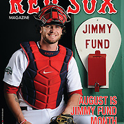 Red Sox Magazine 2012 Fifth Edition featuring catcher Jarrod Saltalamacchi. ..(Photo by Michael Ivins/Boston Red Sox)