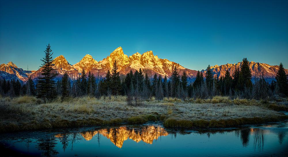 Sunrise at the Ponds, Teton National Park