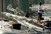 Crew prepare for racing in the Lindauer classic regatta. 18/2/2006
