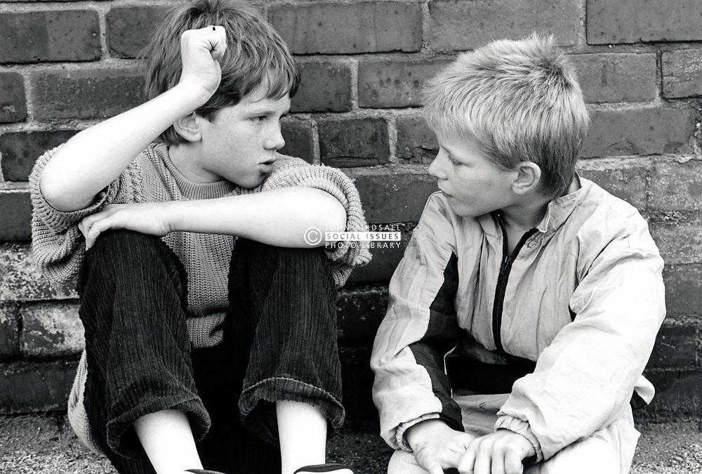 Two boys, UK 1990s