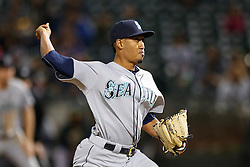 OAKLAND, CA - SEPTEMBER 09:  Edwin Diaz #39 of the Seattle Mariners pitches against the Oakland Athletics during the ninth inning at the Oakland Coliseum on September 9, 2016 in Oakland, California. The Seattle Mariners defeated the Oakland Athletics 3-2. (Photo by Jason O. Watson/Getty Images) *** Local Caption *** Edwin Diaz