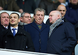 LONDON, ENGLAND - Sunday, February 9, 2014: England manager Roy Hodgeson watches Tottenham Hotspur take on Everton during the Premiership match at White Hart Lane. (Pic by David Rawcliffe/Propaganda)
