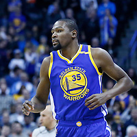 13 February 2017: Golden State Warriors forward Kevin Durant (35) is seen during the Denver Nuggets 132-110 victory over the Golden State Warriors, at the Pepsi Center, Denver, Colorado, USA.