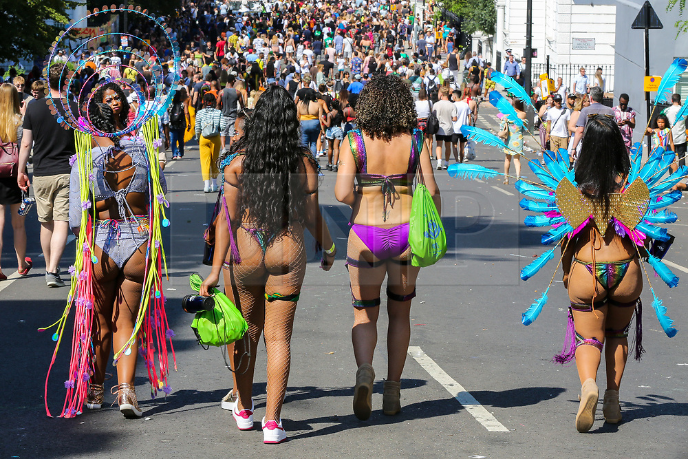 © Licensed to London News Pictures. 26/08/2019. London, UK. Revellers attend the 2019 Notting Hill Carnival, Europe's largest street party and a celebration of Caribbean traditions and the capital's cultural diversity. Photo credit: Dinendra Haria/LNP