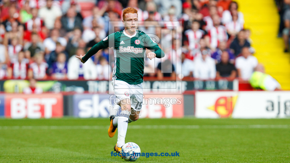 Ryan Woods of Brentford during the Sky Bet Championship match between Sheffield United and Brentford at Bramall Lane, Sheffield<br /> Picture by Mark D Fuller/Focus Images Ltd +44 7774 216216<br /> 05/08/2017