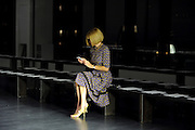Vogue editor-in-chief Anna Wintour arrives early to the Altuzarra Spring 2015 show during New York Fashion Week, Saturday, Sept. 6, 2014.  (AP Photo/Diane Bondareff)
