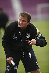 Head coach of Slovenian Football National Team Matjaz Kek, on June 5, 2007, Temisvar, Romania. (Photo by Vid Ponikvar / Sportal Images)