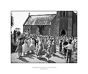 Wedding, Bunclody and Ferns.17/06/1957  ..