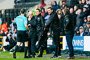 Notts County Manager Kevin Nolan is sent to the stands  during the EFL Sky Bet League 2 match between Notts County and Wycombe Wanderers at Meadow Lane, Nottingham, England on 30 March 2018. Picture by Simon Davies.