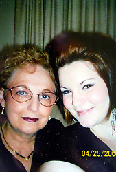 21 May 2015. Laurel, Mississippi.<br /> Collect photos of plus size model Tess Holliday (formerly known as Tess Munster, née Ryann Hoven) in her formative years from a family album. Tass and her beloved grand mother Carolyn Tadlock in 2006.<br /> Photo credit; Tadlock via Varleypix.com