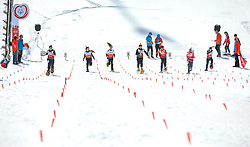 17.03.2017, Ramsau am Dachstein, AUT, Special Olympics 2017, Wintergames, Schneeschuhlauf, Divisioning 100 m, im Bild sieben Athletinnen // seven athletes during the Snowshoeing Divisioning 100 m at the Special Olympics World Winter Games Austria 2017 in Ramsau am Dachstein, Austria on 2017/03/17. EXPA Pictures © 2017, PhotoCredit: EXPA / Martin Huber