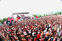 20110112: RIO DE JANEIRO, BRAZIL - Brazilian football star Ronaldinho Gaucho presentation at his new team Flamengo. About 20,000 fans showed up for the official introduction of two-time best player of the World. In picture: Flamengo fans. PHOTO: CITYFILES