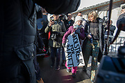 Swedish climate activist Greta Tintin Eleonora Ernman Thunberg joins local school students in Davos during the WEF in a school strike demanding action on climate politics.
