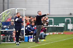 Willie Kirk manager of Bristol City Women shouts instructions from the dug-out - Mandatory by-line: Paul Knight/JMP - 03/05/2018 - FOOTBALL - Stoke Gifford Stadium - Bristol, England - Bristol City Women v Manchester City Women - FA Women's Super League 1