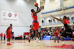 Daniel Edozie of Bristol Flyers - Rogan Thomson/JMP - 05/11/2016 - BASKETBALL - SGS Wise Arena - Bristol, England - Bristol Flyers v Leicester Riders - BBL Championship.