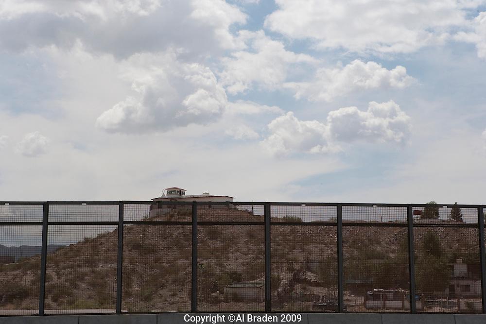 Border fence betwen El Paso and Cd. Juarez, Pisano Drive, El Paso, TX.
