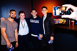 Bailey Wright, Josh Brownhill and Callum O'Dowda in action as Bristol City players visit the Belong by GAME gaming arena to play the new FIFA 18 - Rogan/JMP - 27/09/2017 - Merchant Street - Bristol, England.