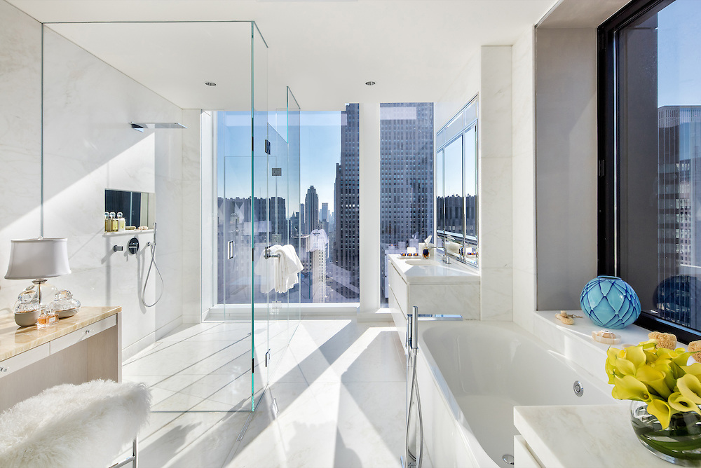 Bathroom, Baccarat Residences, NYC