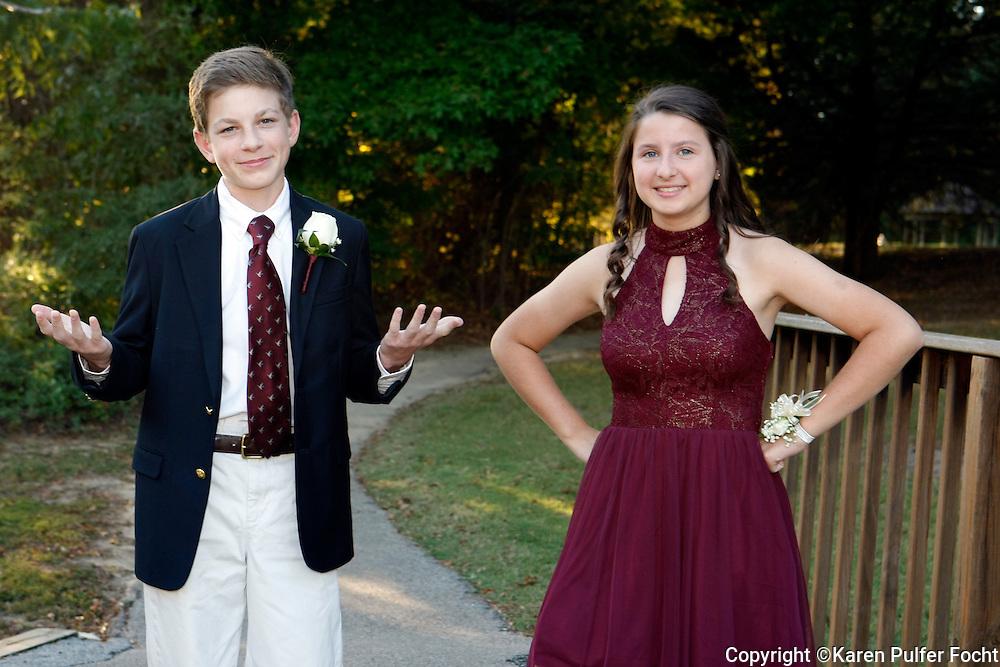 Teens mingling before a dance.