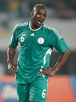 Photo: Steve Bond/Richard Lane Photography.<br />Nigeria v Mali. Africa Cup of Nations. 25/01/2008. Daniel Shittu looks frustrated