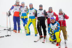 during last race of Andrej Jerman, Slovenian best downhill skier when he finished his professional alpine ski career on April 6, 2013 in Krvavec Ski resort, Slovenia. (Photo By Vid Ponikvar / Sportida)