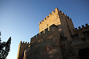 Main fortification  from the 5th century impressive Castelo de S. Jorge. The Castelo district is part of the way of Lisbon's nº28 yellow tram on his way through the central, most historic region of the city.