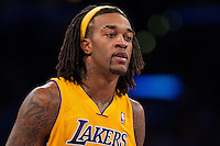 30 October 2012: Forward (27) Jordan Hill of the Los Angeles Lakers against the Dallas Mavericks during the second half of the Mavericks 99-91 victory over the Lakers at the STAPLES Center in Los Angeles, CA.