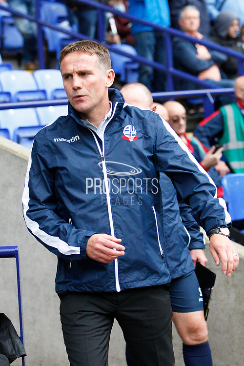 Bolton Wanderers Manager Phil Parkinson  during the EFL Sky Bet Championship match between Bolton Wanderers and Leeds United at the Macron Stadium, Bolton, England on 6 August 2017. Photo by Craig Galloway.