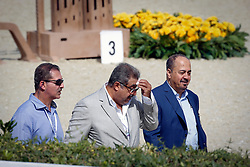 Ziyad Abduljawal, …, Abdul Rahman Al Hazza'a (President of the Saudi Broadcasting Corporation)<br /> Furusiyya FEI Nations Cup Jumping Final Round 1<br /> CSIO Barcelona 2013<br /> © Dirk Caremans