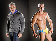 Portrait of a model and bodybuilder