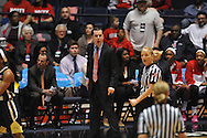 "Mississippi Lady Rebels head coach Matt Insell receives a technical foul vs. Georgia Tech in the WNIT at the C.M. ""Tad"" Smith Coliseum in Oxford, Miss. on Sunday, March 22, 2015. Ole Miss won 63-48.(AP Photo/Oxford Eagle, Bruce Newman)"