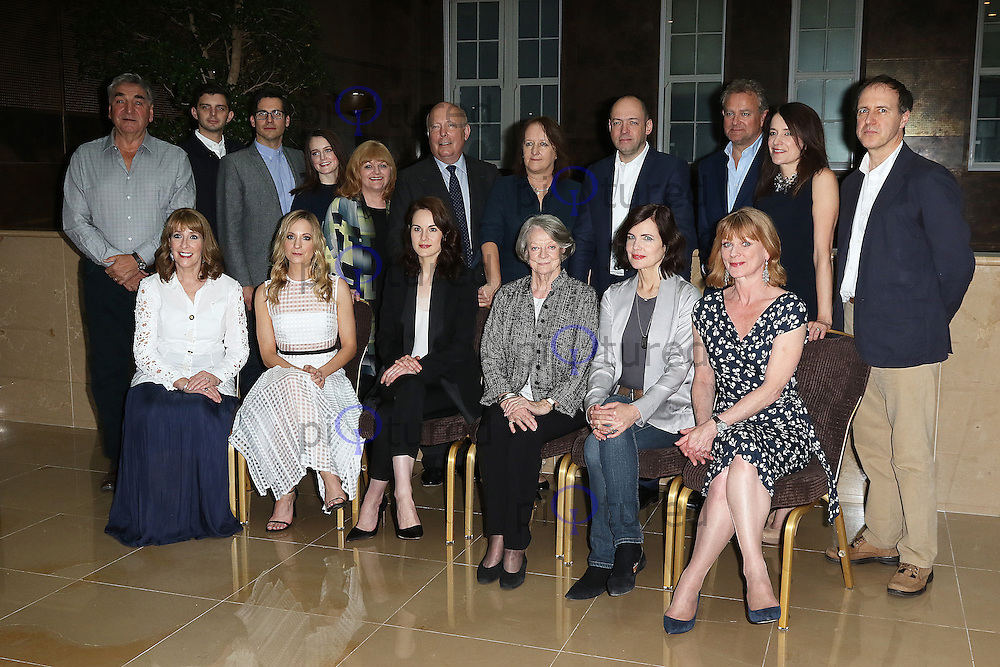 Downton Abbey Cast & Crew, Downton Abbey - Final Season press launch photocall, The May Fair Hotel, London UK, 13 August 2015, Photo by Richard Goldschmidt