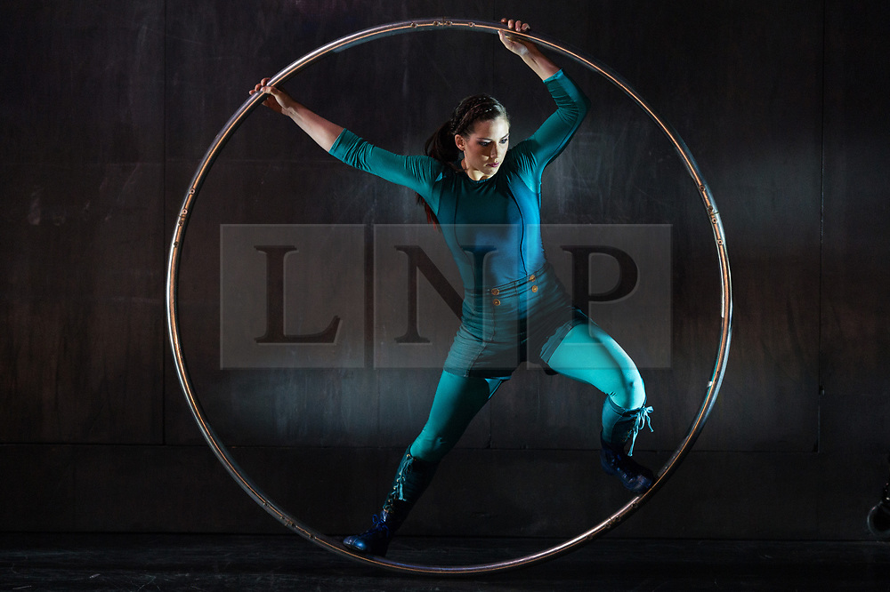 © Licensed to London News Pictures. 14/08/2017. London, UK. Photo credit: A member of the Scandinavian circus company Cirkus Cirkor perform a dance titled Nordic Matters as part of Southbank Centre's year-long, exploration of Nordic arts and culture<br /> Ray Tang/LNP