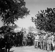 Balfour visiting Jewish colonies, Palestine, 1925. Arthur James Balfour(1848–1930) British Conservative politician and statesman.  UK Prime Minister 1902-1905. As Foreign Secretary was responsible for the Balfour Declaration, 1917.