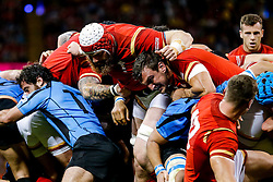 Wales Lock Jake Ball and Flanker Sam Warburton (capt) ruck - Mandatory byline: Rogan Thomson/JMP - 07966 386802 - 20/09/2015 - RUGBY UNION - Millennium Stadium - Cardiff, Wales - Wales v Uruguay - Rugby World Cup 2015 Pool A.