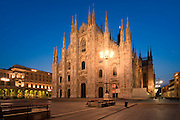 Europe, Italy, Lombardy, Milan, Night, beautiful, color, Duomo, square