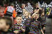 Young fans before the European Challenge Cup match between Ospreys and Stade Francais at Principality Stadium, Cardiff, Wales on 2 April 2017. Photo by Andrew Lewis.