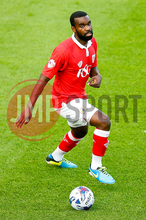 Karleigh Osborne of Bristol City in action - Photo mandatory by-line: Rogan Thomson/JMP - 07966 386802 - 12/04/2014 - SPORT - FOOTBALL - Ashton Gate, Bristol - Bristol City v Oxford United - Capital One Cup Round 1.