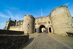 Main gate to Stirling Castle in Stirling , Scotland, UK