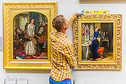 The return and re-hanging of the nation&rsquo;s Pre-Raphaelite works, including Millais&rsquo; Ophelia, to Tate Britain. They are going back on display from Thursday 7 August 2014 after being seen by over 1.1 million people worldwide. They include: John Everett Millais&rsquo; , Ophelia; Beata Beatrix by Dante Gabriel Rossetti; The Lady of Shalott by John William Waterhouse (pictured left); The Beloved by Rossetti; and Mariana (pictured right)  by John Everett Millais. These works are being displayed in the 'grand' surroundings of the 1840 galleries as part of the BP Walk through British Art. <br /> Millbank,  London, UK