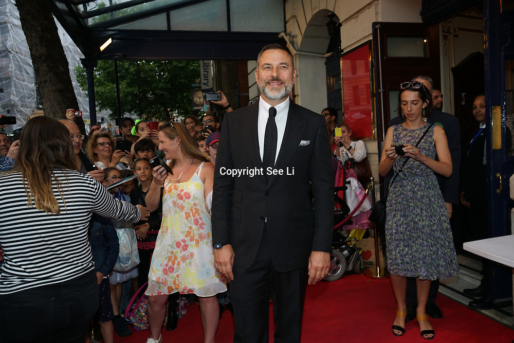 Garrick Theatre , London,UK. 2nd August 2017. David Walliams attends the Gangsta Granny - press performances.