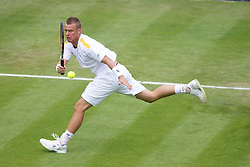 26.06.2013, Wimbledon, London, ENG, ATP World Tour, The Championships Wimbledon, Tag 3, im Bild Lleyton Hewitt (AUS) during day three of the ATP World Tour Wimbledon Lawn Tennis Championships at the All England Lawn Tennis and Croquet Club, London, Great Britain on 2013/06/26. EXPA Pictures © 2013, PhotoCredit: EXPA/ Propagandaphoto/ David Rawcliffe<br /> <br /> ***** ATTENTION - OUT OF ENG, GBR, UK *****
