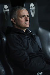 December 12, 2018 - Valencia, Spain - December 12, 2018 - Valencia, Spain - .Head coach Jose Mourinho of Manchester United during the UEFA Champions League, Group H football match between Valencia CF and Manchester United on December 12, 2018 at Mestalla stadium in Valencia, Spain (Credit Image: © Manuel Blondeau via ZUMA Wire)